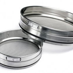 Sieve-Diam:100 mm, inside height: 45 mm, mesh 50