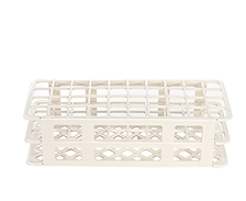Test tube rack holes 20 mm white